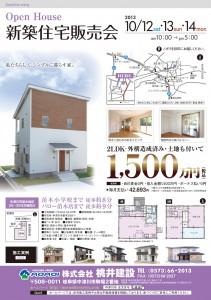 新築住宅販売会桃井建設チラシ